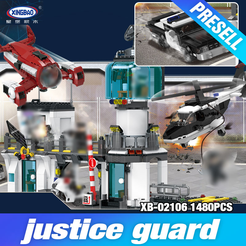 XingBao 02106 The Police Station Escape Set City Series Model Building Blocks Bricks Toys Eudcational DIY Boy's Birthday Gifts цена