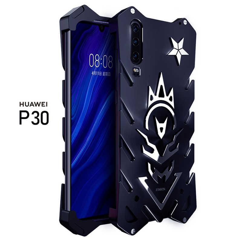 Per Huawei P30 Pro P30 Armatura di Lusso di Alluminio del Metallo Della Copertura Del Respingente Antiurto Proteggere Huawei P30 Caso Coque Fonda A Portata di mano Hulle