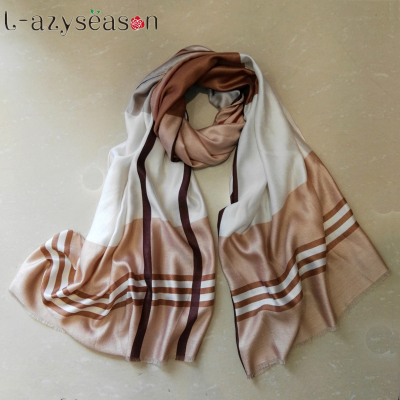 New hijab Fashion Winter   Scarf   Women Brand Bandana Luxury Pashmina Foulard Femme Plaid   Scarves     Wraps   Striped shawls for lady