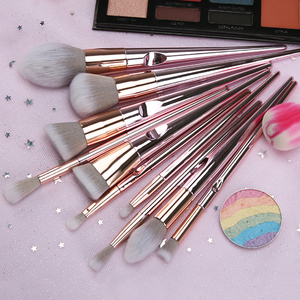 Image 3 - New 10 wet and wild makeup brush powder rod radiation package thumb makeup brush set beauty makeup eye shadow brush Brushes bag