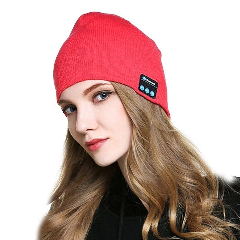 Fashion Women Men Beanie Hat Cap Wireless Bluetooth Earphone Headset Speaker Mic Winter Sport Stereo Music Hats JL sport bluetooth music hat cap handsfree headset headphone built in speaker mic