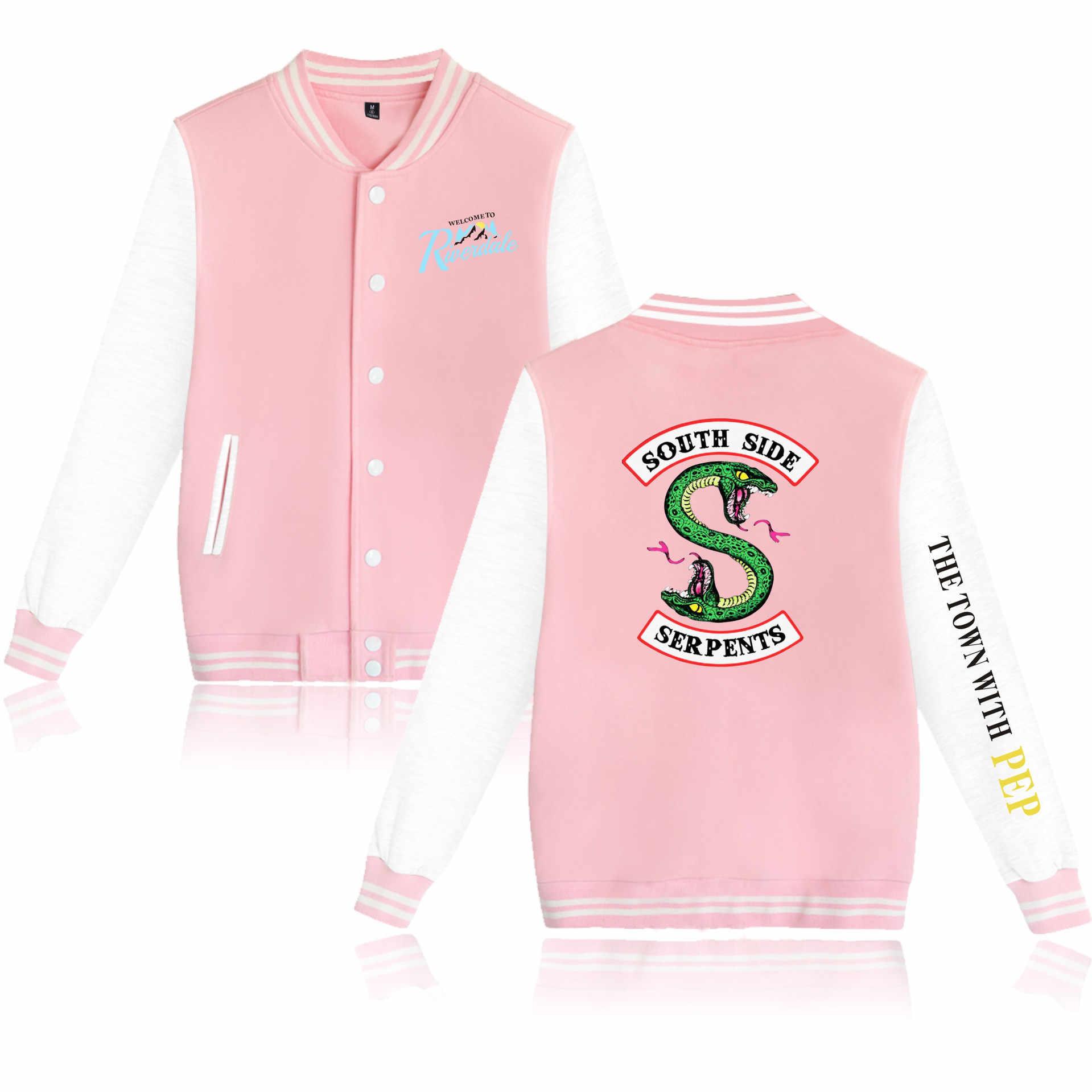 Waidx Southside Riverdale Serpents Baseball Snake Girl Jackets Sweatshirt Women Button   Pocket Streetwear Drop Shipping