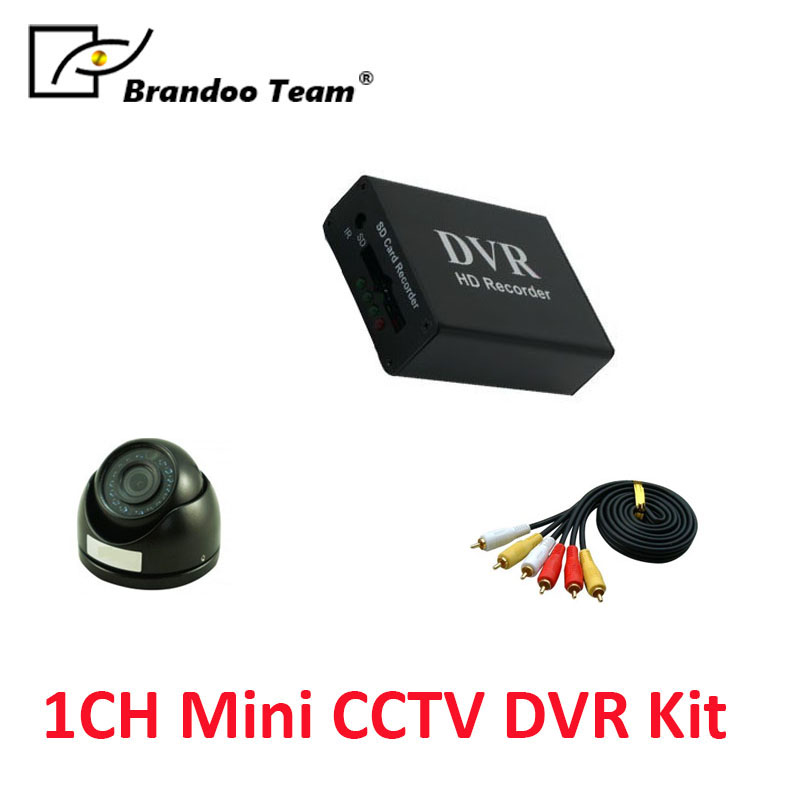 Best sale!!! Mini dome camera for hidden 1CH D1 SD DVR,1CH DVR recorder kit inlcude camera and video cable,free shipping. цена 2017