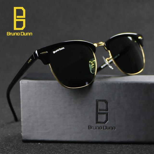 2016 Bruno Dunn Vintage Sunglasses Mujeres Diseñador de la Marca Para Los Hombres Retro Gafas de Sol Hombre Lentes Gafas Gafas de Feminino Tonos