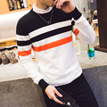 2016 New Autumn Fashion Brand Casual Sweater O-Neck Striped Slim Fit Knitting Mens Sweaters And Pullovers Men Pullover Men
