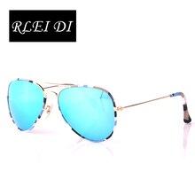 RLEI DI TOP Quality Multi Camouflage Frame Mirrored Glass Lens Sunglasses Top Grade Sun Glasses Men Women Fashion Travel Eyewear