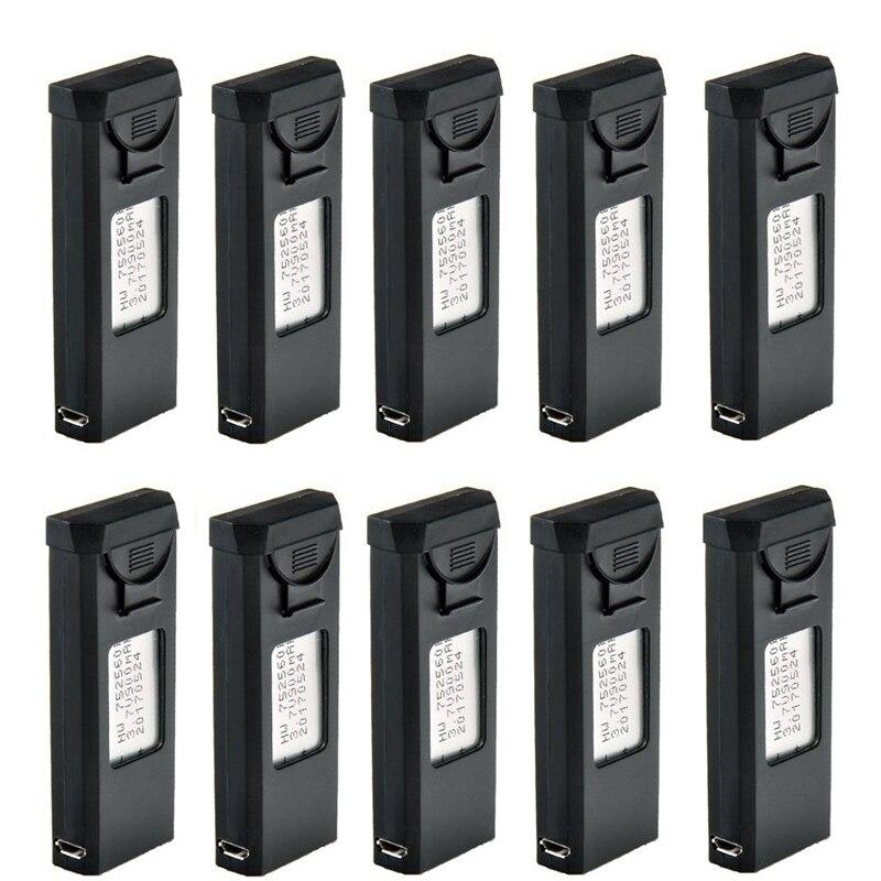 10 pcs Chargeur Ensemble Pour VISUO XS809S XS809HW XS809W XS809 3.7 v 900 mah Lipo Batterie RC Drones Quadcopter De Rechange pièces Accessoires
