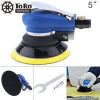 TORO 5 Inch Non vacuum Matte Surface Pneumatic Polishing Machine Random Orbital with Sander Pad for Cars Polishing