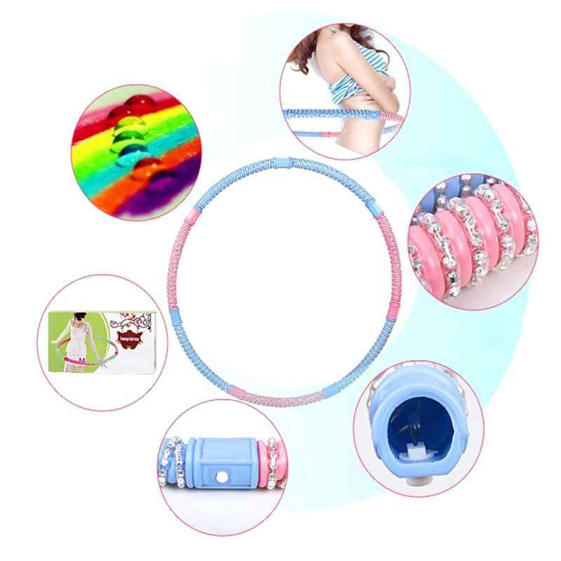 76CM Sport Hoop Loose Weight Materiel Sport Fitness Hoop Equipment Yoga Circle Detachable Aggravated Beads Sport Body Building