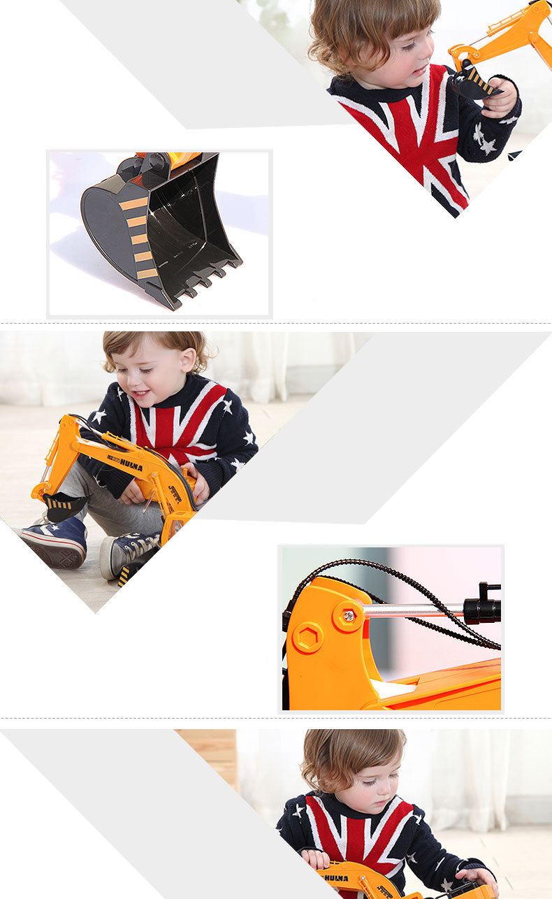 Large 11 Channels RC Excavator RC Car Remote Control Toys Car Electric Excavator Charging Electric Vehicle Toys For Kids Boys 13