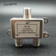 2 Way HD Digital Coax Cable Splitter Bi Directional MoCA 5 2500MHz Connector Satellite TV Receiver