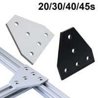 Fuerte soporte de ángulo de esquina conexión conjunto de junta para ranura en V de perfil de aluminio 2020, 3030, 4040, 4545 con 5 agujeros