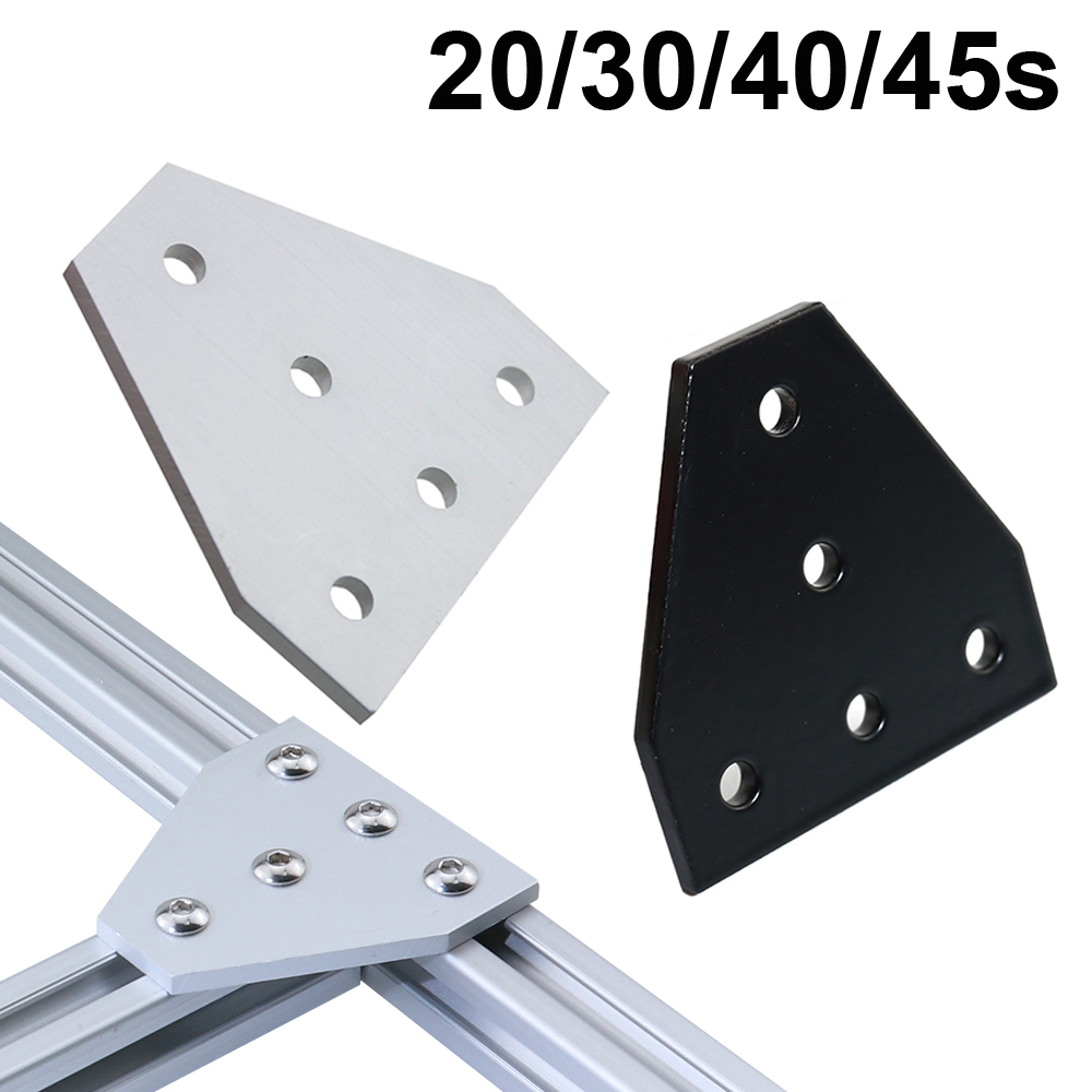 Strong Corner Angle Bracket Connection Joint Strip Board for V-slot Aluminum Profile 2020 3030 4040 4545 with 5 holes image