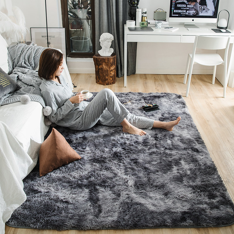 Carpet For Bedroom: Motley Plush Carpets For Living Room Soft Fluffy Rug Home