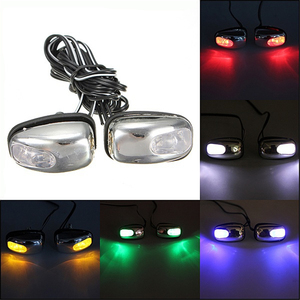 Image 2 - QCDIN 2Pcs Car LED Lights Windshield Washer Eyes LED Lamp Wiper Jet Water Spray Nozzle Spout Wiper Washer Eye Car Styling