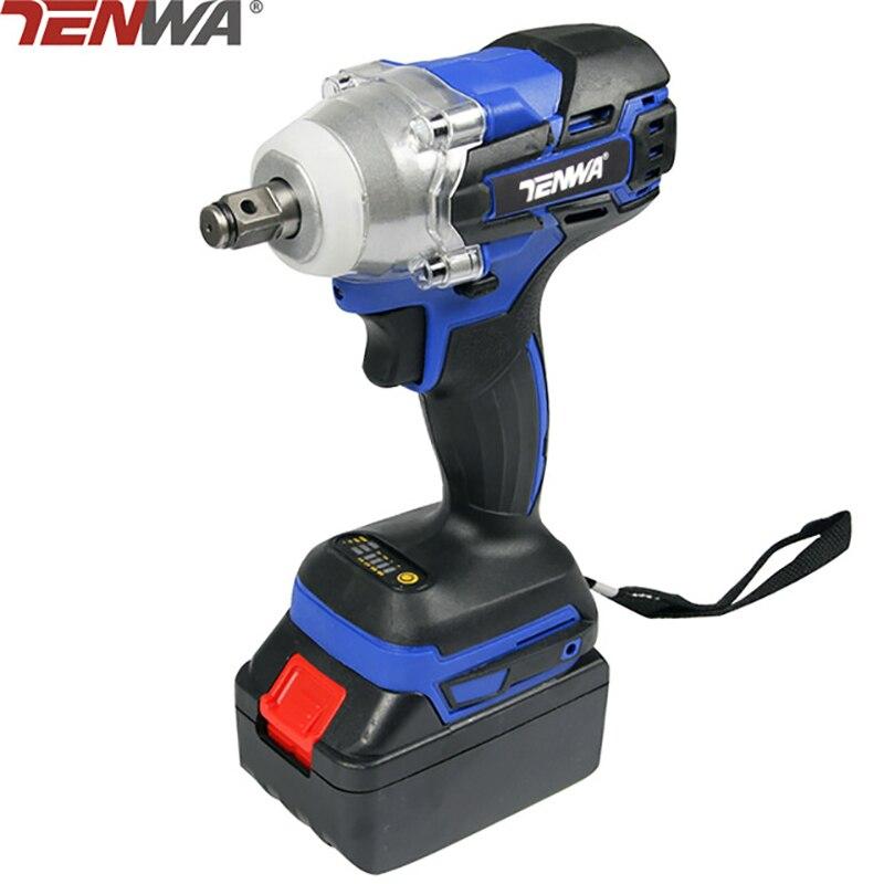 TENWA 21 в ударный гаечный ключ бесщеточный беспроводной электрический ключ мощный инструмент 320N. m Крутящий момент перезаряжаемый дополнител...