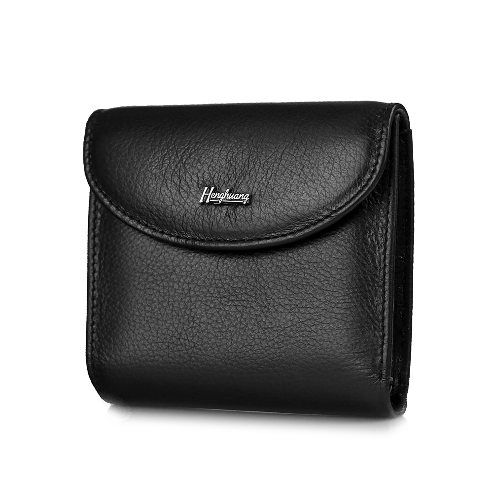 HH 2019 New Mini Cow Genuine Leather Men's Wallets Male Small Wallet Coin Purses ID Card Holder Designer Slim Purse Money Bag