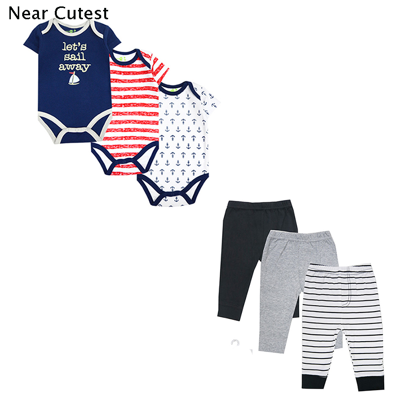Near Cutest 6pcs/lot Newborn Baby Boy Girl Romper Costume Animal Short Sleeve Cotton Baby Clothes 3pcs set newborn infant baby boy girl clothes 2017 summer short sleeve leopard floral romper bodysuit headband shoes outfits