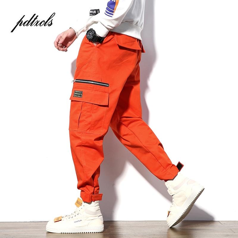 New Harajuku Cotton Multi-Pocket Safari Style Fashion Men's Jogger Cargo Pants Autumn Hip Hop Streetwear Casual Elastic Trousers