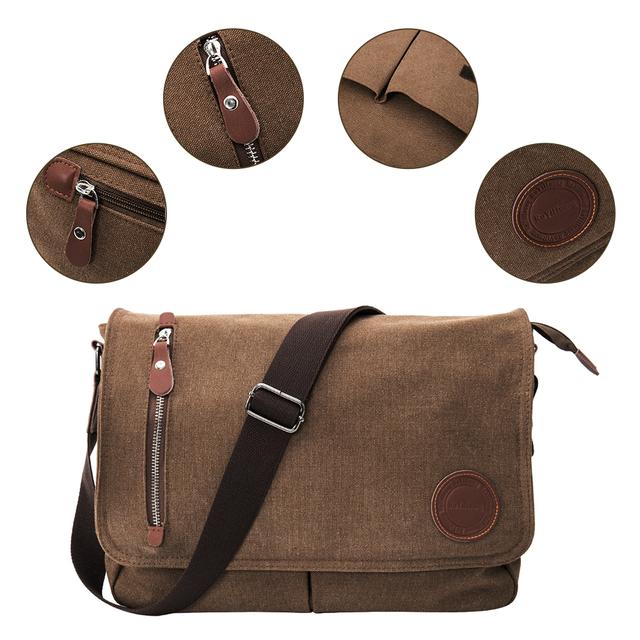 2019 Canvas Leather Crossbody Bags Men Messenger Shoulder for Man Bolsa Handbags Quality Luxury Designer Big Brand Masculina