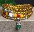 Новинка 6 мм цитрин тибетского буддизма 108 молитва бусины ожерелье тыква мала молитва браслет для медитации