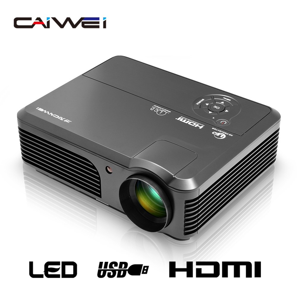 CAIWEI HD TV Projector Home Movie Theater LCD LED Porjector Audio Video Proyector Beamer HDMI USB