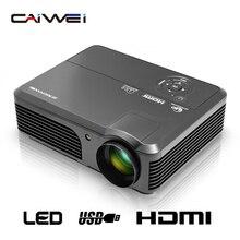 CAIWEI HD TV Proyector sala de Cine en Casa LCD LED Porjector Audio Video Proyector Beamer HDMI VGA USB para el teléfono de entretenimiento