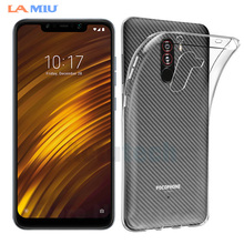 LA MIU Soft TPU Case for Xiaomi Pocophone F1 Transparent Silicone For Poco