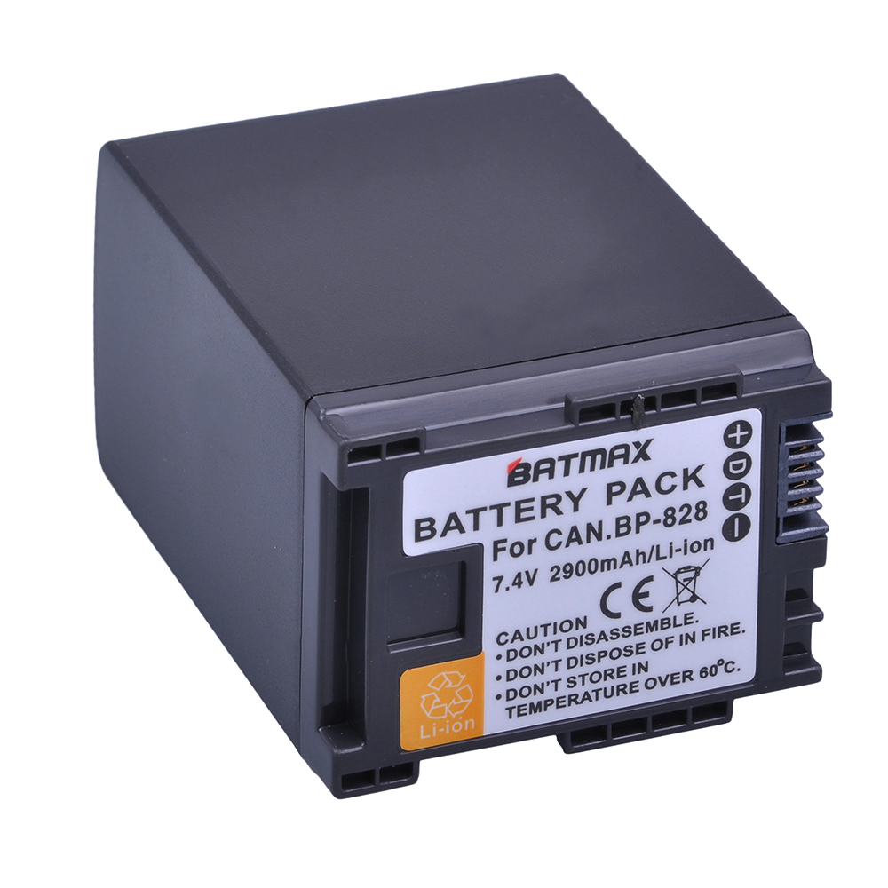 Batmax 1pc 2900mAh BP-828 BP828 BP 828 Camera Battery for Canon VIXIA GX10 HFS30 HF20 HG20 G30 G40 XA20 XA25 HFM300