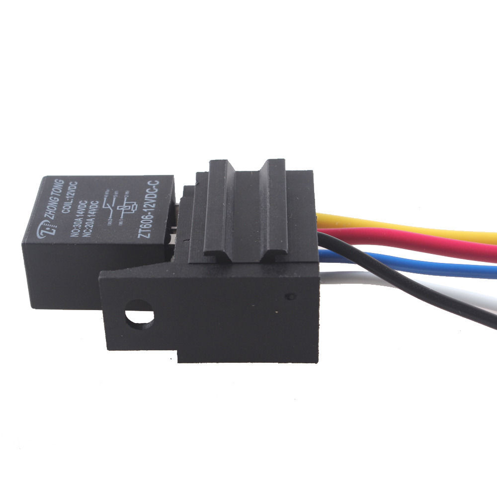 Ee Support 30a Amp 12v Relay Kit For Electric Fuel Pump Light Horn 5pin 5 Wire Car Styling Xy01
