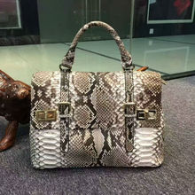 double beige colors python/snake skin tote women handbag,100% genuine python skin women tote handbag for chrismas gift birthday