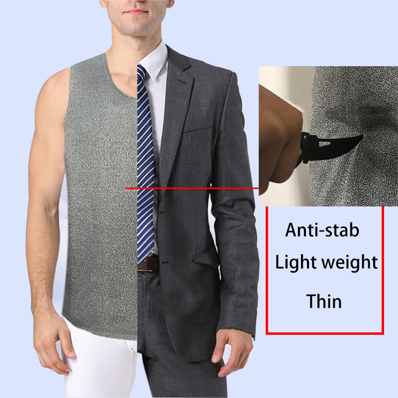 лучшая цена Soft Stab-resistant Vest Anti-Stab Anti-cut Light weight Invisible Ultra-thin Safety Clothing Cut-proof Self-defense Clothes