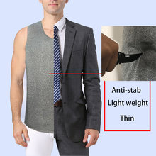 Soft Stab-resistant Vest Anti-Stab Anti-cut Light weight Invisible Ultra-thin Safety Clothing Cut-proof Self-defense Clothes(China)