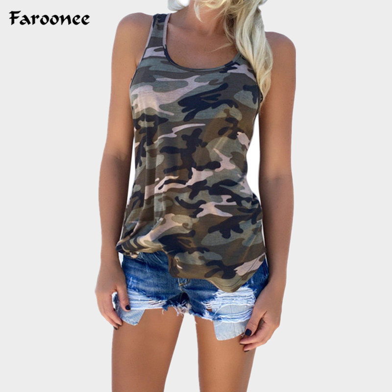 Blouses & Shirts 2019 New Summer Camouflage Tank Tops 5xl Women Round Neck Sleeveless Casual Vest Streetwear Female Loose Tee Tops Clothes 6q0004