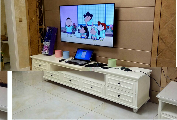 Us 640 0 Louis Fashion American Simple White Tv Cabinet Solid Wood Paint Bedroom Floor Cabinet European Modern Living Room Cabinet In Tv Stands From