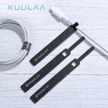 KUULAA Кабельный органайзер для сматывания проводов Держатель кабеля 14 см для мыши шнур для Наушников HDMI Aux USB кабель управление провода кабель протектор