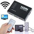 Мини 10% до 85% ОТНОСИТЕЛЬНОЙ ВЛАЖНОСТИ 2.5 Гбит/250 МГц ИК-Пульт Дистанционного 5 Порт HDMI переключатель 5-в-1 5*1 Переключатель HDMI Splitter HDMI Порт для HDTV 1080 P Vedio