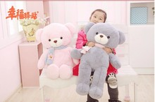 new lovely blue teddy bear toy petals teddy bear toy plush doll birthday gift about 80cm