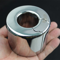 Metal Ball Stretcher Scrotum Pendant Restraint Ring Weight Penis Bondage Scrotum Lock Traning Ring 9 Size for Men B2 2 103