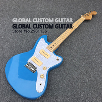 Jazzmaster deluxe Jaguar Electric guitar,High quality Guitarra,Blue Color,All color Available,Real photo showing,free shipping