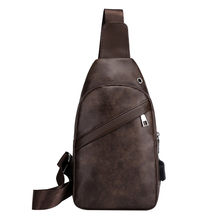 Men Leather Vintage Fashion Sling Chest Bag Travel Cross Body Messenger Small Male Shoulder Bag Anti-Theft Casual Packs drop(China)
