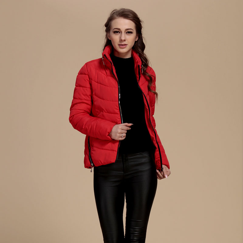 Women Fashion Warm Coat Cotton Winter New Jacket Outwear Full Sleeve Solid Color Womens Parkas Female Casual Clothing new fashion winter solid long sleeve womens coat plus size pink short down warm jacket casual parkas for women 65238