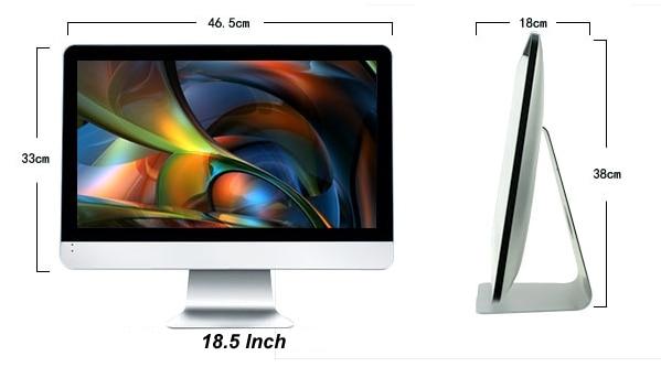 18.5 21.5 23.6 23.8 27 Inch Intel Core Quad Core I5-4590 1080P All-in-one PC