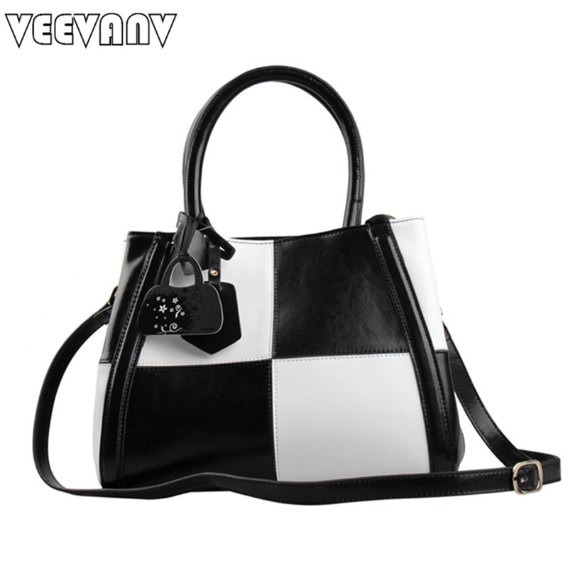 VEEVANV New 100% genuine leather bag women handbag tote bag 2017 new Shoulder Bags patchwork women messenger bags bolsa feminina handbag shengdilu brand new 2018 women genuine leather high end tote shoulder messenger bag free shipping bolsa feminina