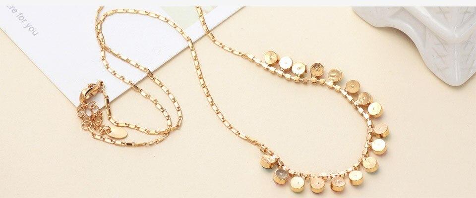 Neoglory Австрийский Кристалл Стразы светильник желтый золотой, цветной шарик цепи ожерелье кулон Женская мода Colf-b