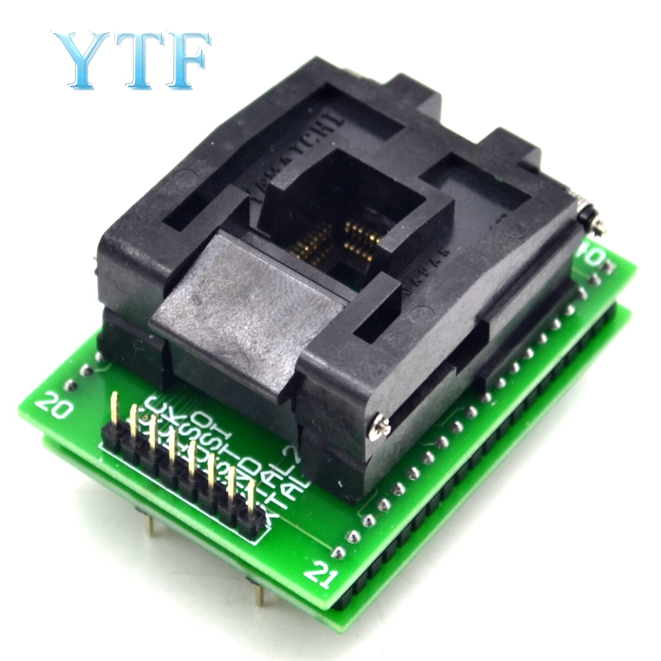 IC Test Stand Adapter Burning Seat Conversion TQFP44 To DIP40 QFP44