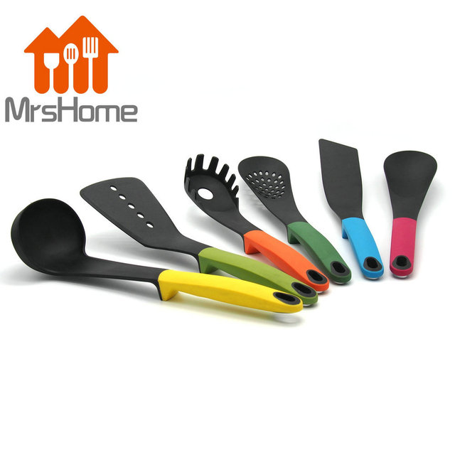 6pcs FDA Approved Silicone Cooking Tools Silicone Kitchen Utensils ...