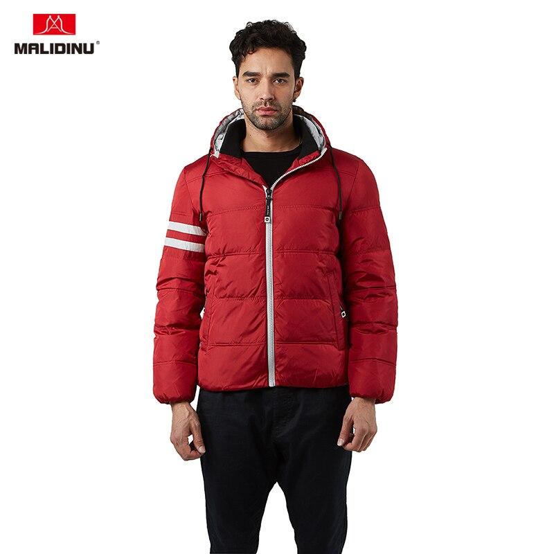 MALIDINU 2019 Winter Men   Down   Jacket Warm   Down     Coat   Hooded Parka Man 70%White Duck   Down   Winter Jackets Sports Outdoor   Coats   -30C