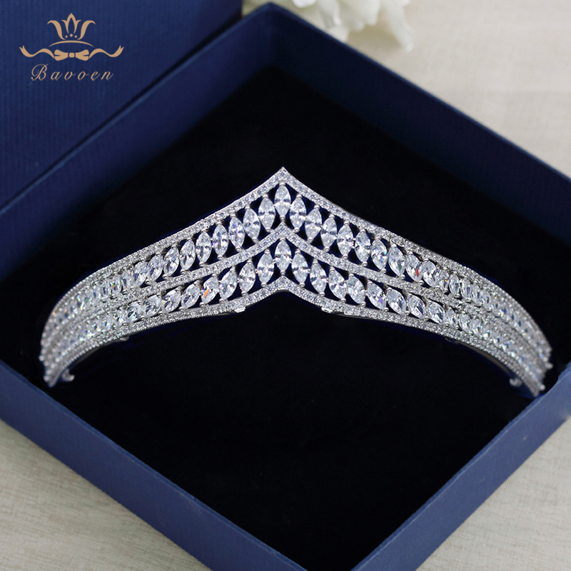 Royal Princess Silver Crystal Wedding Hairbands Brides Full Zircon Tiaras Crowns Evening Headpieces Bridal Hair Accessories цена