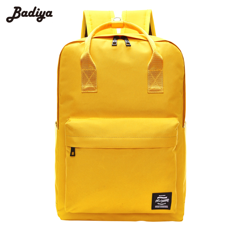 Summer Travel Laptop Backpack Large Capacity Solid Women European Style Casual Back Pack For Student Teenager Mochila Feminina